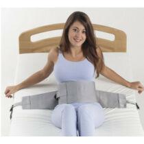 Csatos betegrögzítő hasi pánt ágyban történő rögzítésre