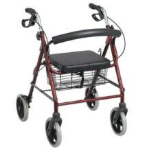 Rollátor négy kerékkel kosárral ülőkével fékes Salus SLRC006