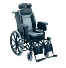 """Komfort kerekesszék párnázott üléssel dönthető háttámasszal 24"""" kerékkel"""