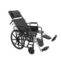 Dönthető háttámlás kerekesszék emelhető lábtartóval