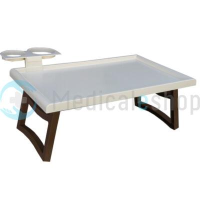 Műanyag ágyasztal, bézs színű