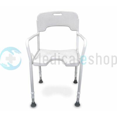 Zuhanyzó szék, karfával, háttámlával