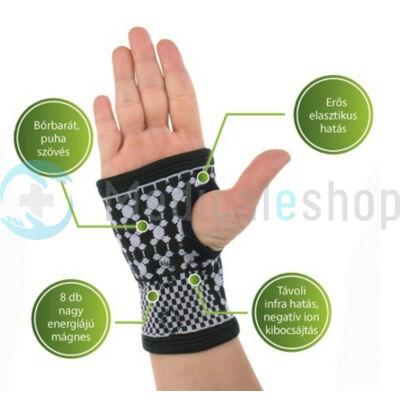Mágneses csukló- és kézfejszorító turmalinnal -L